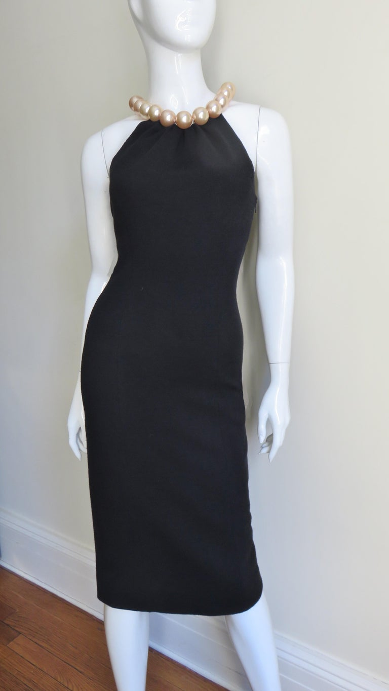 Moschino Pearl Collar Dress For Sale 2