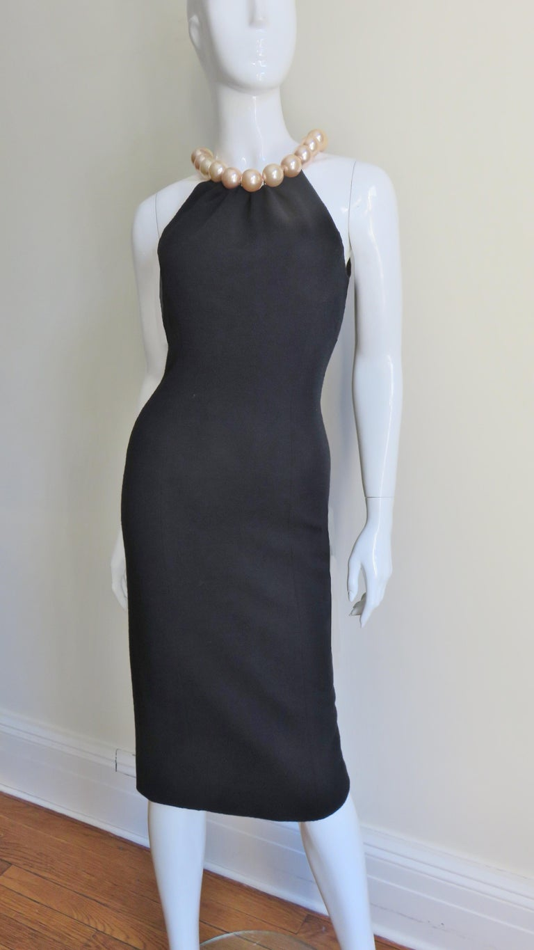 Black Moschino Pearl Collar Dress For Sale