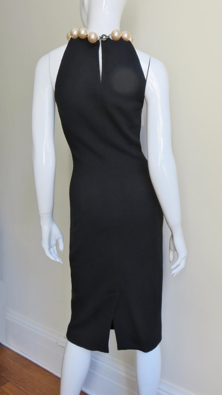 Moschino Pearl Collar Dress For Sale 6
