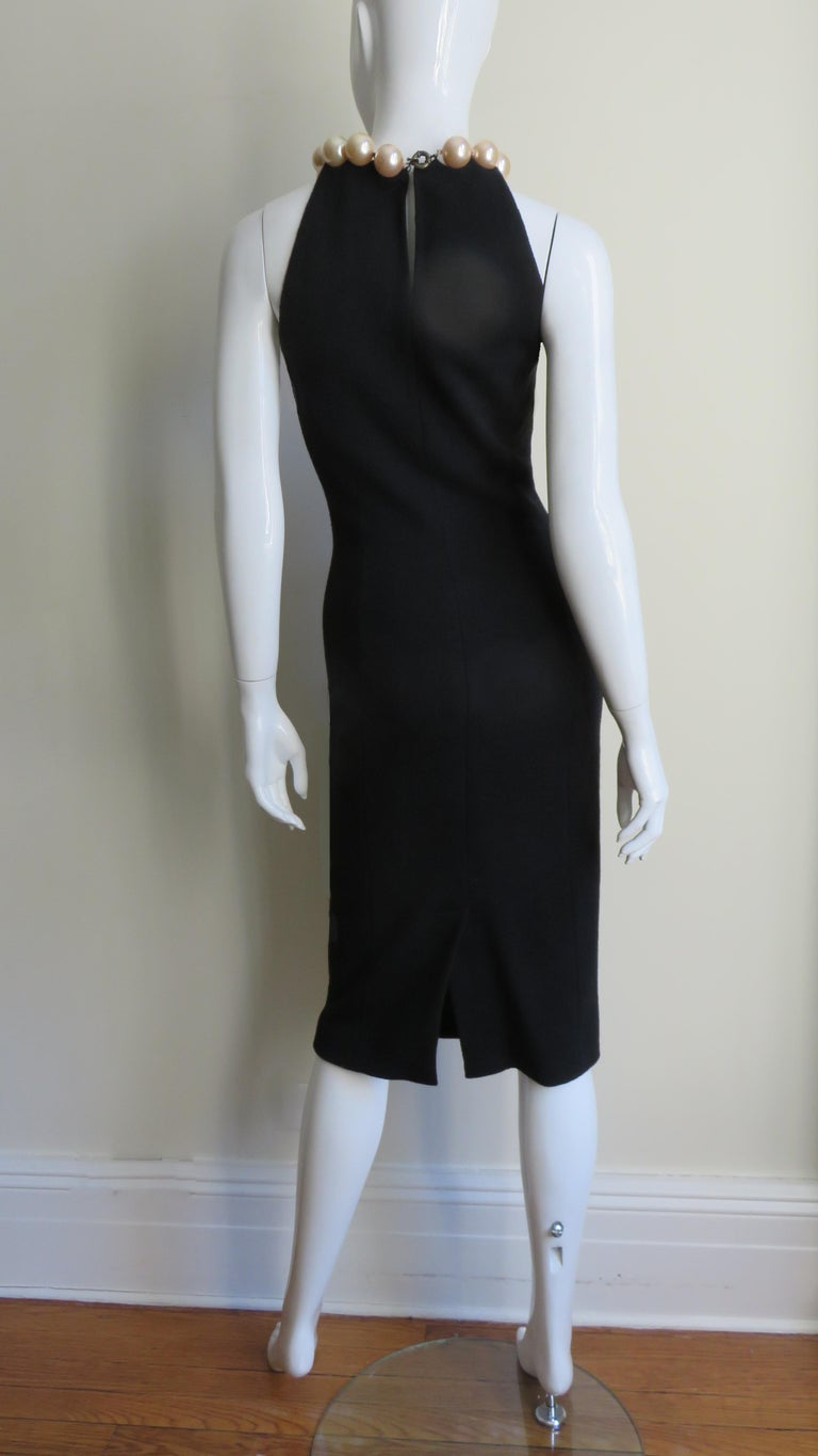 Moschino Pearl Collar Dress For Sale 5