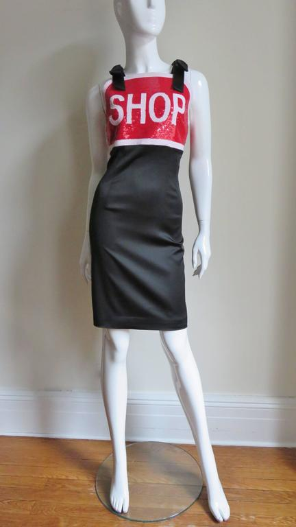 Moschino Couture SHOP Sequin Dress In New Never_worn Condition For Sale In New York, NY