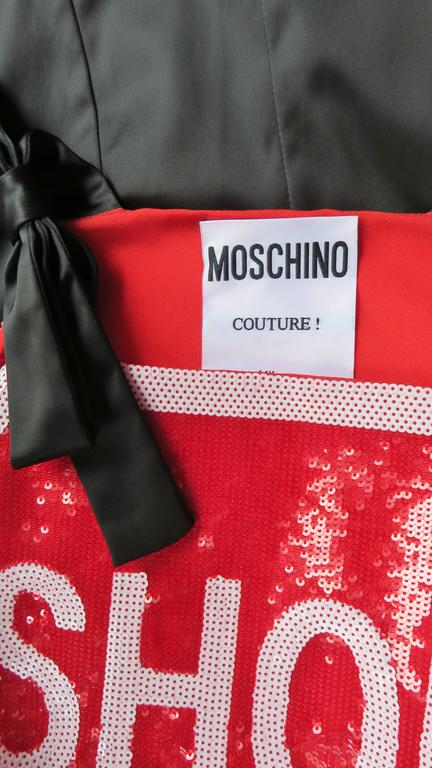 Moschino Couture SHOP Sequin Dress For Sale 3