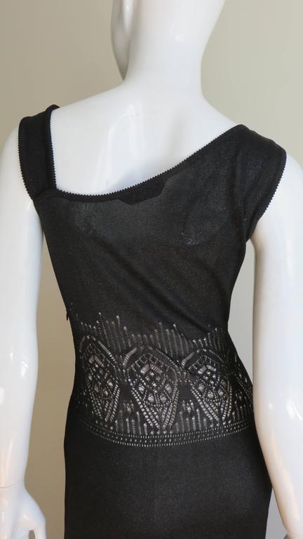 Galliano Mermaid Dress With Sheer Midriff For Sale 2