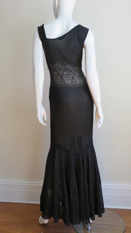 Galliano Mermaid Dress With Sheer Midriff For Sale 4