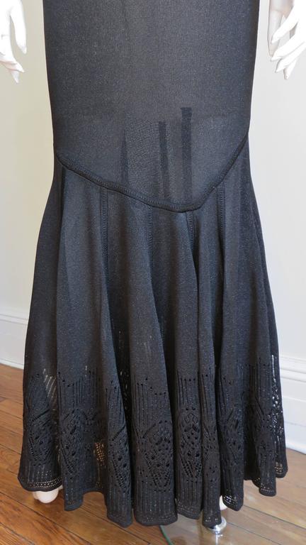 Galliano Mermaid Dress With Sheer Midriff For Sale 3
