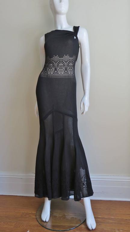 Galliano Mermaid Dress With Sheer Midriff For Sale 1