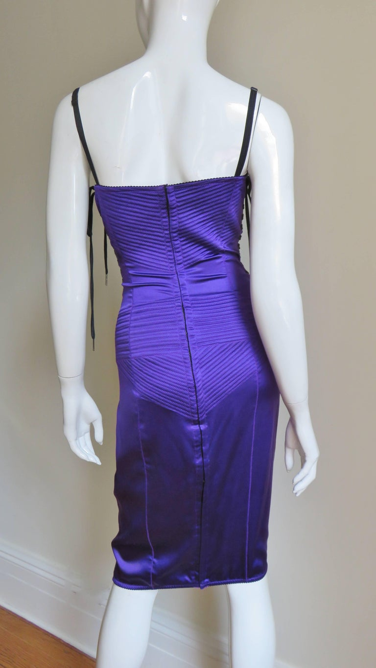 1990s Dolce & Gabbana Corset Dress With Side Lacing For Sale 2