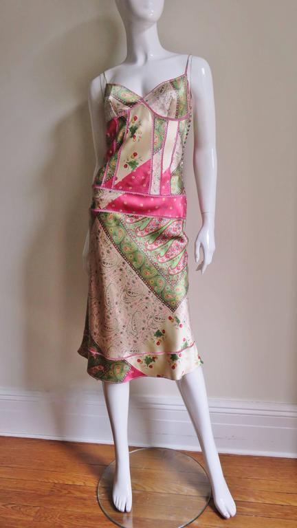 John Galliano for Christian Dior Silk Slip Dress 6