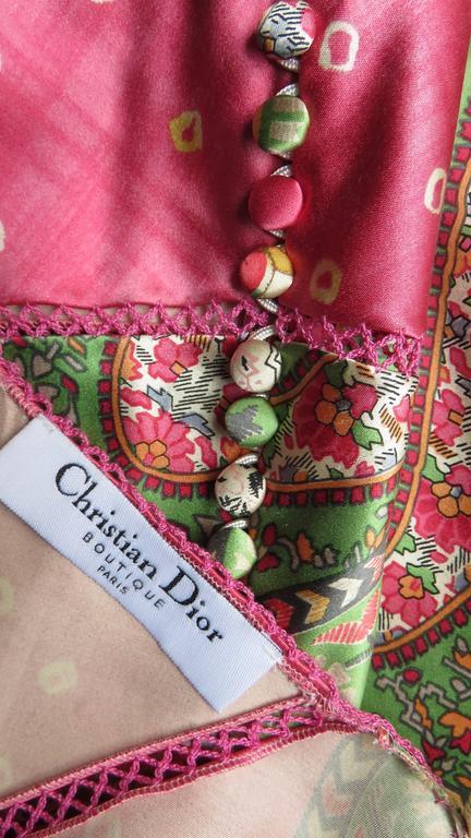 John Galliano for Christian Dior Silk Slip Dress 10