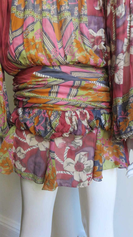 Christian Dior Bohemian Hippie Chic Batik Split Sleeve