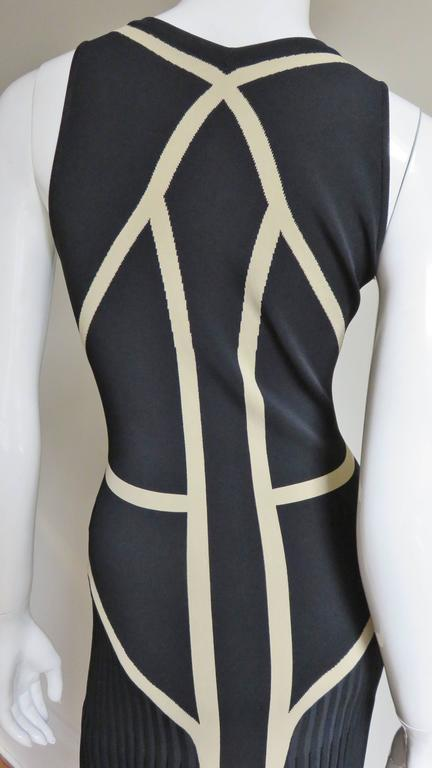 Alexander McQueen Geometric Color Block Bodycon Dress For Sale 3