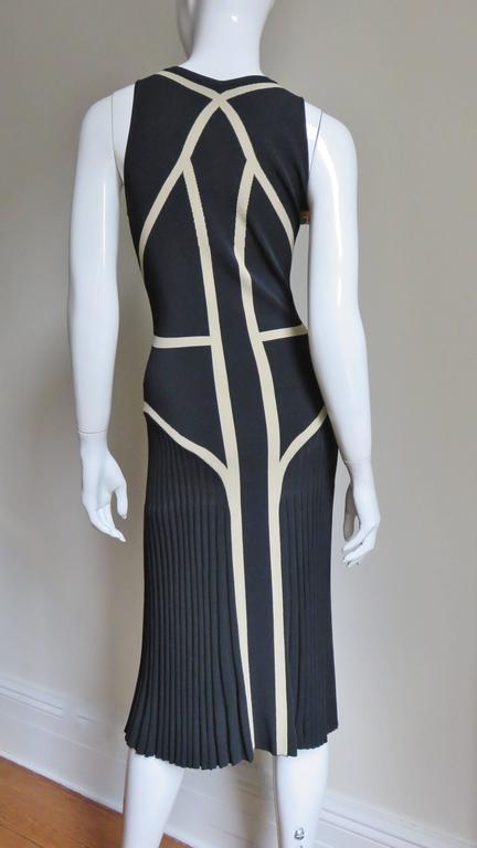 Alexander McQueen Geometric Color Block Bodycon Dress For Sale 2