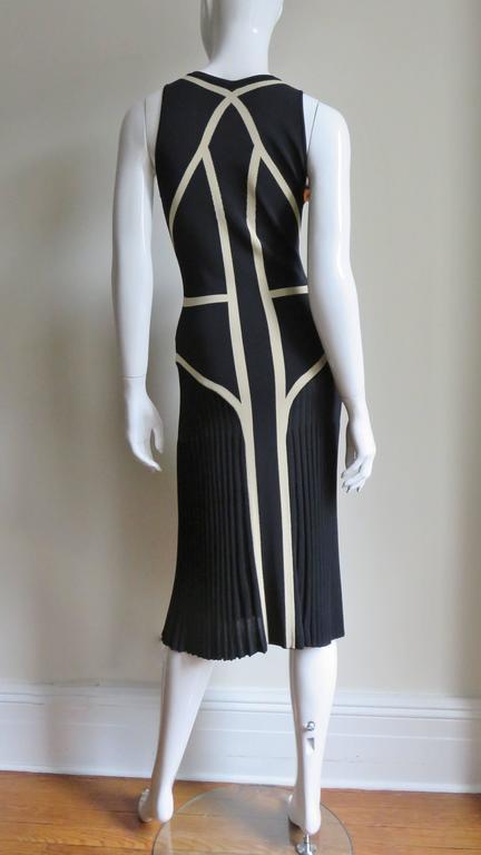 Alexander McQueen Geometric Color Block Bodycon Dress For Sale 5