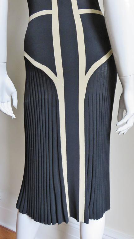 Alexander McQueen Geometric Color Block Bodycon Dress For Sale 4