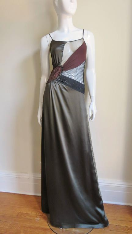 1990s Jean Paul Gaultier Slip Dress With Sheer Inserts & Fringe 6