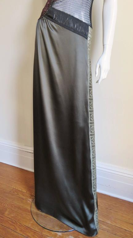 1990s Jean Paul Gaultier Slip Dress With Sheer Inserts & Fringe 5