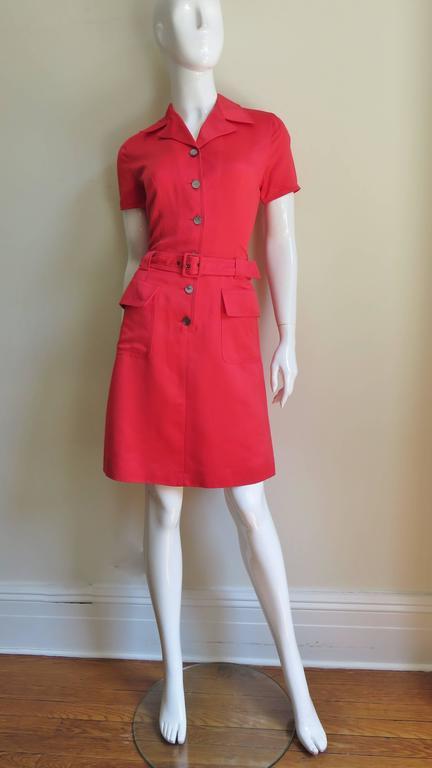 Vintage Ferragamo Shirt Dress For Sale at 1stdibs