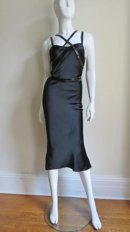 Christian Dior Silk Dress With Leather Harness  5