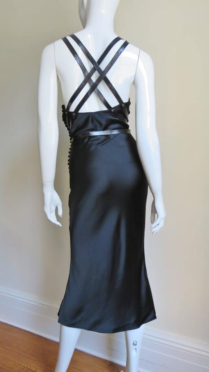 Christian Dior Silk Dress With Leather Harness  6