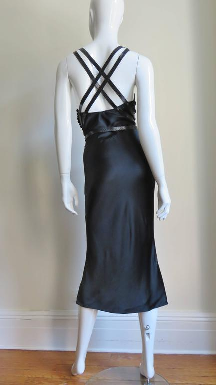 Christian Dior Silk Dress With Leather Harness  9