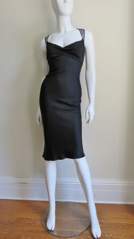 Women's 1990s John Galliano for Christian Dior Sheer Back Silk Dress For Sale