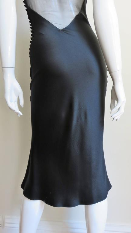 1990s John Galliano for Christian Dior Sheer Back Silk Dress For Sale 3