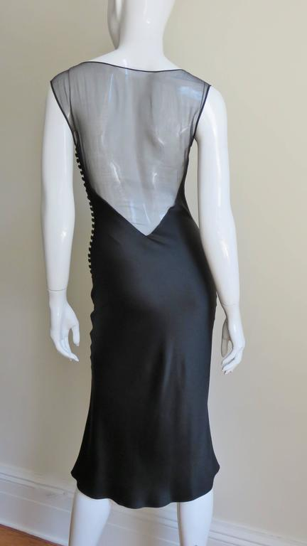 1990s John Galliano for Christian Dior Sheer Back Silk Dress For Sale 1