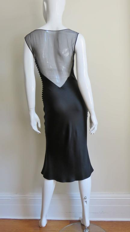 1990s John Galliano for Christian Dior Sheer Back Silk Dress For Sale 4