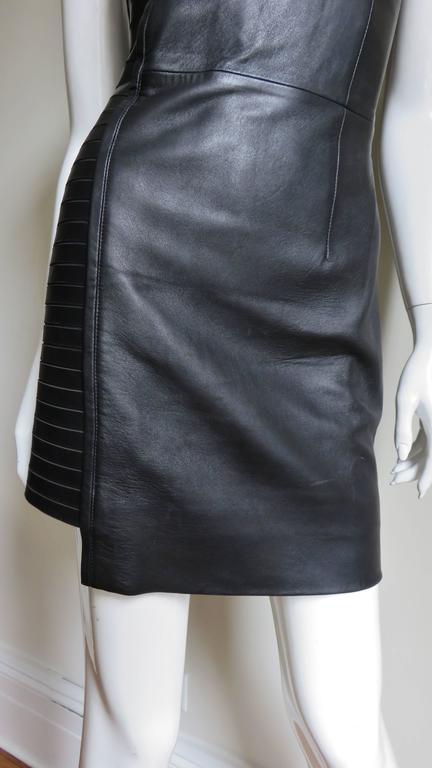 Fabulous Versace Leather  Dress In Excellent Condition For Sale In New York, NY