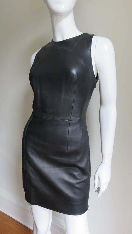 Women's  Fabulous Versace Leather  Dress For Sale