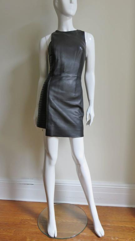Fabulous Versace Leather  Dress For Sale 1