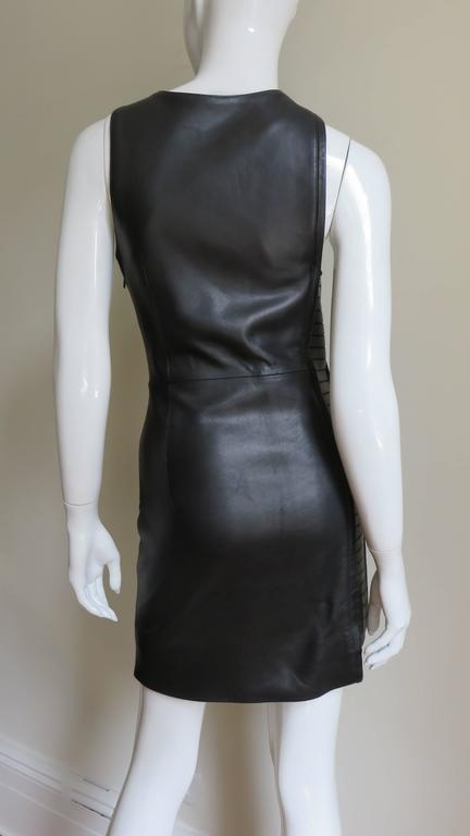 Fabulous Versace Leather  Dress For Sale 2