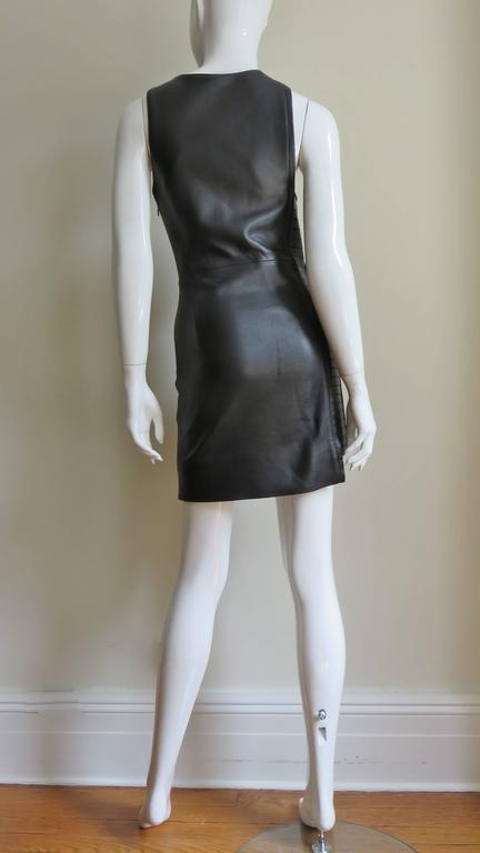 Fabulous Versace Leather  Dress For Sale 4