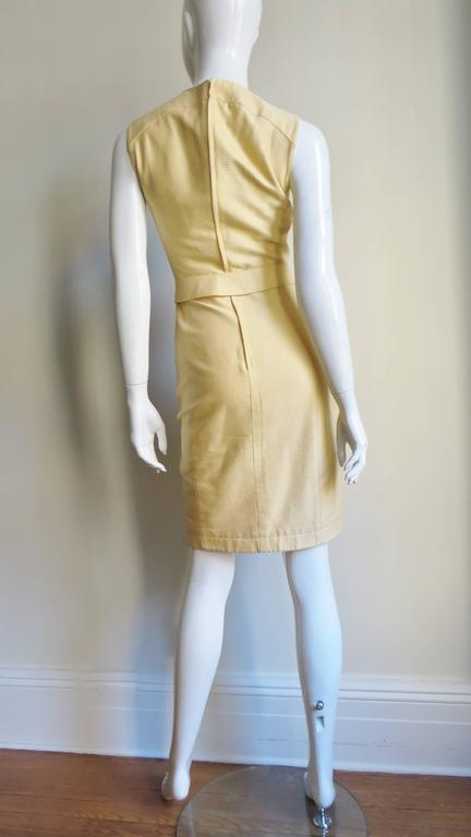 1990s Thierry Mugler Asymmetical Cutout Belted Dress For Sale 4