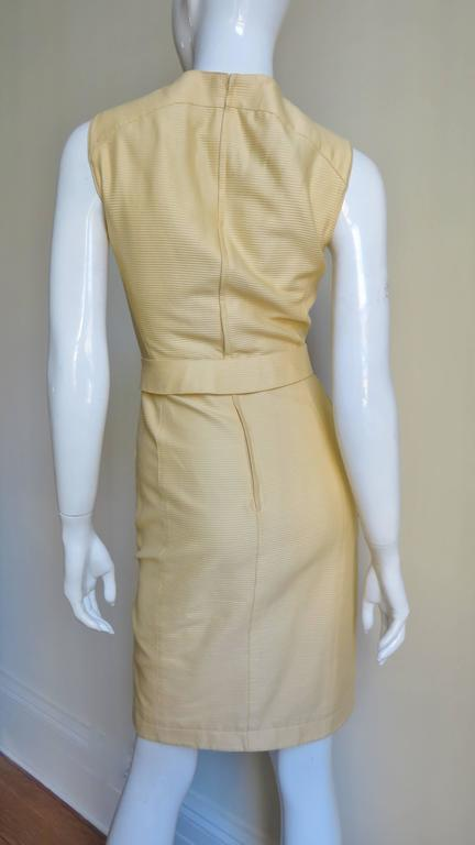 1990s Thierry Mugler Asymmetical Cutout Belted Dress For Sale 3