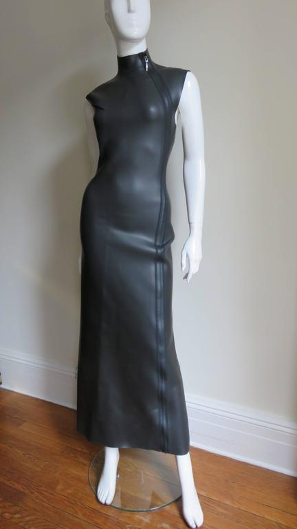 Jean Paul Gaultier Scuba Cheongsam Maxi Dress 4