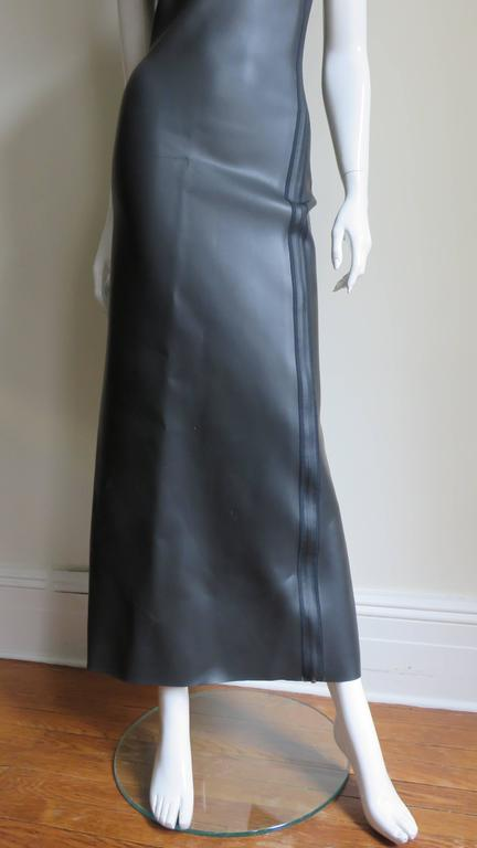 Jean Paul Gaultier Scuba Cheongsam Maxi Dress 3