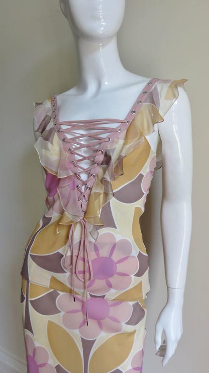 Christian Dior Fabulous Laceup Top & Skirt 3