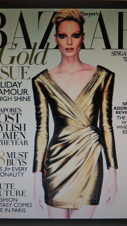 Saint Laurent Gold Plunge Wrap Dress For Sale 9