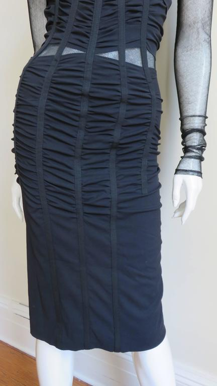 Dolce & Gabbana Corset Mesh Cutout Dress 4
