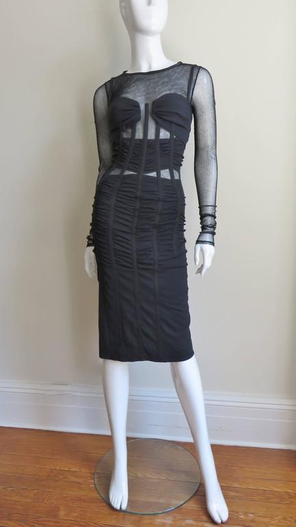 Dolce & Gabbana Corset Mesh Cutout Dress 5