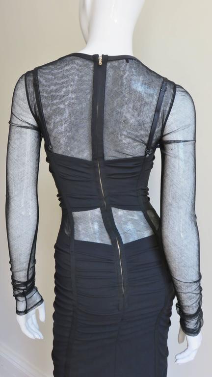 Dolce & Gabbana Corset Mesh Cutout Dress 7
