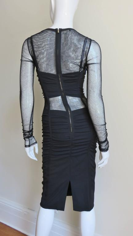 Dolce & Gabbana Corset Mesh Cutout Dress 6