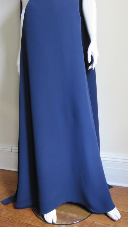 Valentino Silk Cape Dress 4