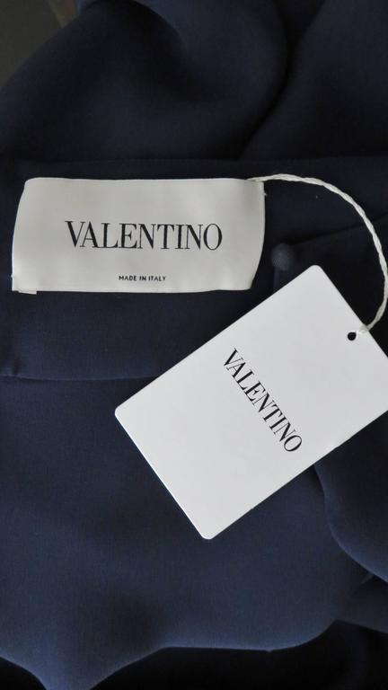 Valentino Silk Cape Dress 10