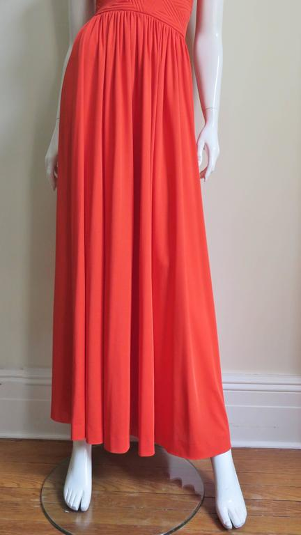 Donald Brooks Trapunto Embroidered Maxi 5