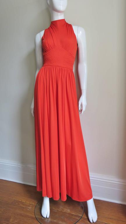 Donald Brooks Trapunto Embroidered Maxi 6