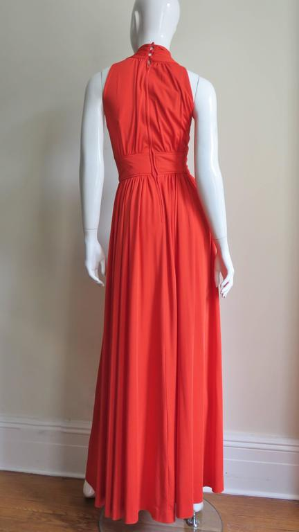 Donald Brooks Trapunto Embroidered Maxi 9