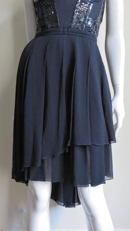 Versace Silk & Laser Cut Patent Trimmed Corset Dress. 4