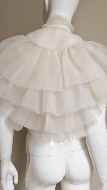 Ethereal 1960's Ruffle Blouse For Sale 3